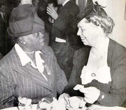 First Lady Eleanor Roosevelt with Mary McLeod Bethune, founder of the National Council of Negro Women